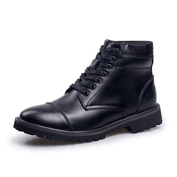 Italian Faux Leather Rubber Boots