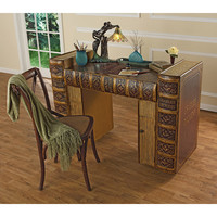 Park Avenue Collection Literary Volumns Writing Desk