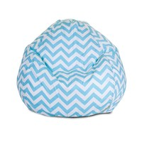 Small Classic Printed Bean Bag - Chevron - Tiffany Blue