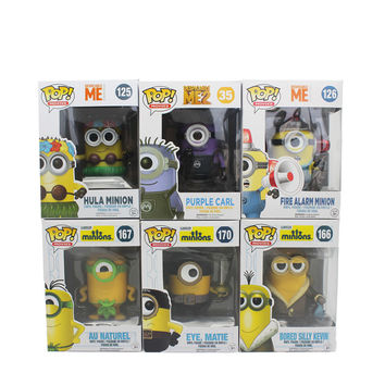 Funko Pop Minion Figure Toys PVC Doll Collection Toys