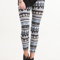 Nollie Blue Snowflake Sweater Knit Leggings at PacSun.com
