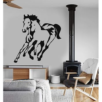 Vinyl Wall Decal Horses Foal Animal Art Mural Room Tribal Stickers Unique Gift (ig216)