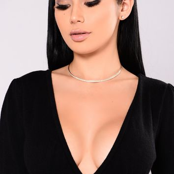 Leilani Choker and Earrings Set - Silver