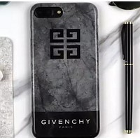 Splicing marble  soft shell simplicity iphone case Grey&black icon