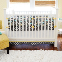 New Arrivals Urban Zoo in Gray Baby Bedding