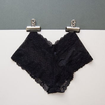 Delicate Black Lace Knickers by Brighton Lace