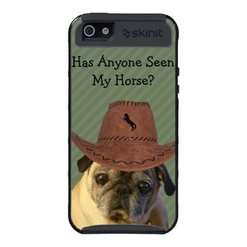 Funny Cowboy Pug Dog Case For iPhone 5 from Zazzle.com