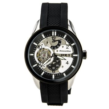 Orient WZ0291FH Men's Motorcycle Raven Black Semi Skeleton Dial Automatic Watch