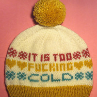 Made-to-Order Winter Blues hat - mature content
