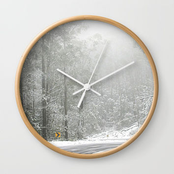 Down the Summit Wall Clock by Chris' Landscape Images & Designs