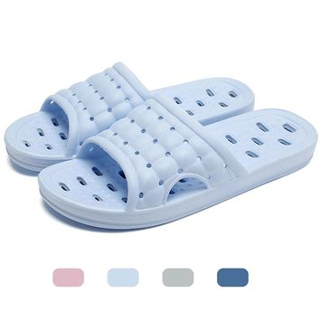 Men's and Women's Non-Slip Bathroom Shower Slippers with Foot Massage Fashion Sandal