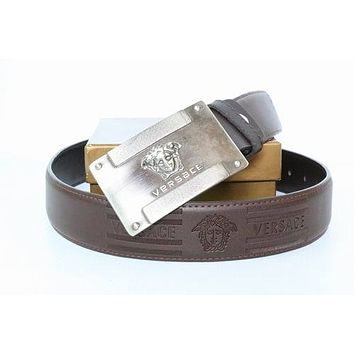 Versace Buckle Belt  Barocco Design Belt