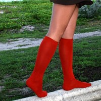 Red Socks, Red Knee Highs, Red Thigh Highs by We Love Colors!