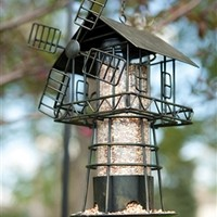 Windmill Bird Feeder Black