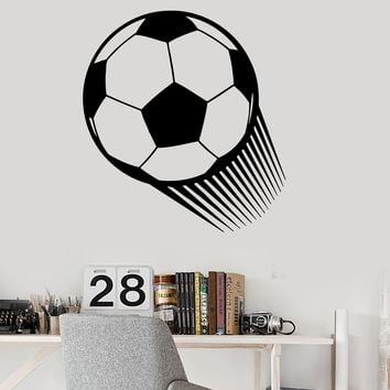 Vinyl Wall Decal Soccer Ball Sports Play Wall Decor Mural Stickers (ig039)