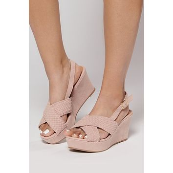 Merida Braided Wedges (Blush)