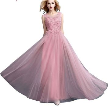 Beauty-Emily Beads New Long Bridesmaid Dresses 2017 Cheap Homecoming Party Prom Dresses A-Line Sleeveless