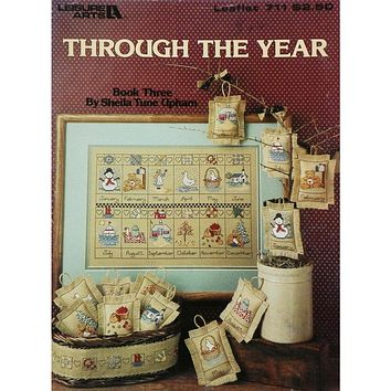 Through the Year - Counted Cross Stitch Leaflet - Leisure Arts