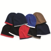 Sportsman - 8 Inch Bottom Striped Knit Cap - SP09