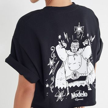 Modelo Especial Luchador Cropped Tee | Urban Outfitters