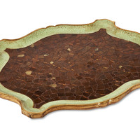 Mosaic Tray, Celadon/Brown, Bath Trays