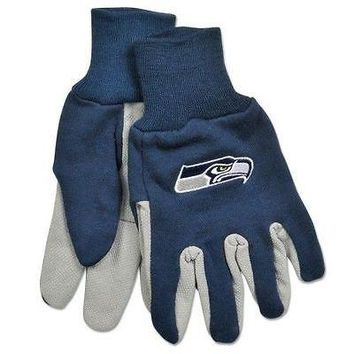 NFL Seattle Seahawks Team Sport Utility Gloves Two Toned Football