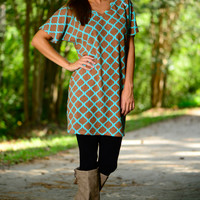 Fall For You Dress, Mint/Taupe