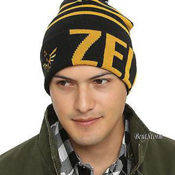 Licensed cool NEW The Legend Of Zelda Triforce Logo Stripe Knit 19560024c513
