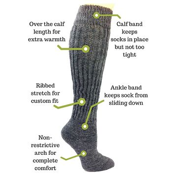 Therapeutic Tall Knee Socks for Diabetes