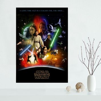 Star Wars Canvas Poster Custom Canvas Painting Poster print cloth fabric wall art poster