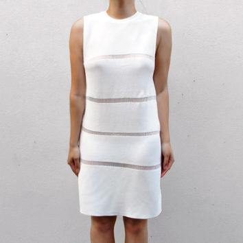 RYDER Thin Knitted Tank Dress - White