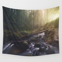 As she transforms Wall Tapestry by HappyMelvin | Society6