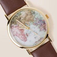 Vanessa World Map Watch