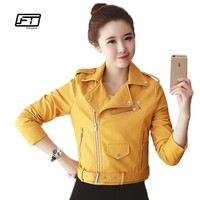 Autumn  Winter  Women  Leather  Jackets  Leather  Coats