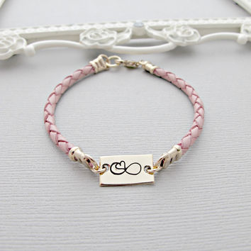 Infinity Bracelet, Friendship Bracelet, Friendship Gift, Gold Bar Bracelet, Friendship Jewelry, Personalized Gift, Infinity Jewelry, GOLD