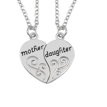 Hand Stamped Mother Daughter Charm Choker Necklace