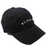 WEIRDOS DAD HAT - BLACK