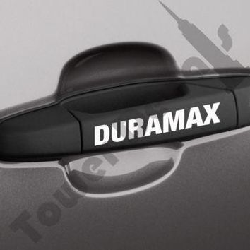 Door Handle Duramax vinyl sticker decal Chevrolet Silverado GMC Sierra