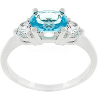 Oval Serenade Triplet Ring, size : 05