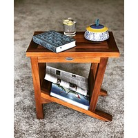 Ala Teak Wood Patio Garden Indoor Outdoor Yard Coffee Side Table Waterproof Fully Assembled Bath Spa Shower Shelf Storage