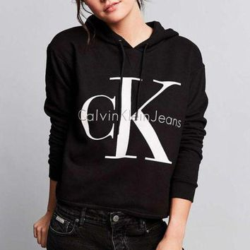 CREYUP0 Calvin klein Long Sleeve Pullover Sweatshirt Top Sweater Hoodie1