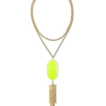 Rayne Necklace in Neon Yellow - Kendra Scott Jewelry