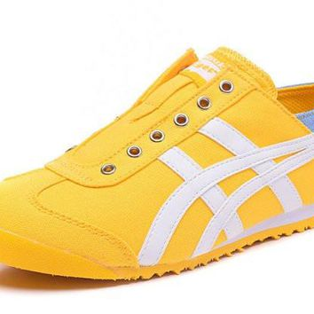 asics japan onitsuka tiger yellow unisex running shoes sneakers trainers  number 1