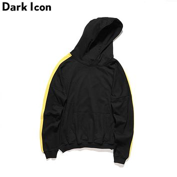 Color Block Patchwork on Sleeve Pullover Men's Hoodies Autumn Hi-street Blank Hoodie for Men 2 Colors