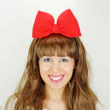 Minnie Mouse Ears Red Minnie Headband Red Mickey Ears Red Mickey Mouse Ears Minnie Ears Minnie Mouse Bow Mickey Bow Women Teens Girls Baby