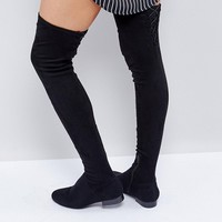 ASOS KASBA PETITE Flat Over The Knee Boots at asos.com