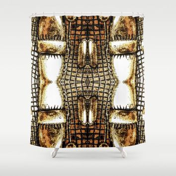 Go Gold Or Go Home Shower Curtain by Louisa Catharine Art And Patterns