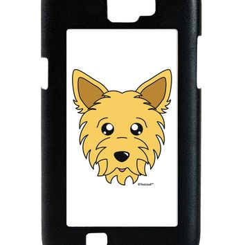 Cute Yorkshire Terrier Yorkie Dog Galaxy Note 2 Case  by TooLoud