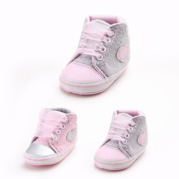 Pink branded girls shoes kids chaussures baby girl sport sneakers dots infant booties children boots first walkers bebe sapatos
