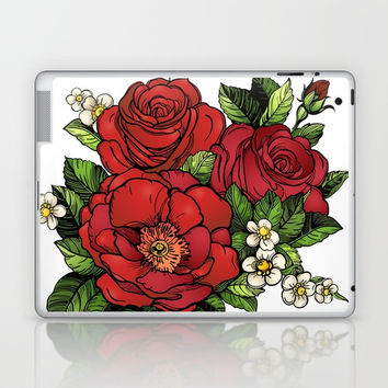 Wild Roses Laptop & iPad Skin by MIKART